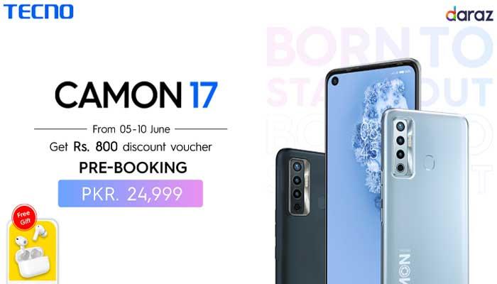 ٹیکنو موبائل کی جانب سے کیمن سیریز کے لانچ کا اعلان، Camon 17 پری آرڈر کے لئے دستیاب