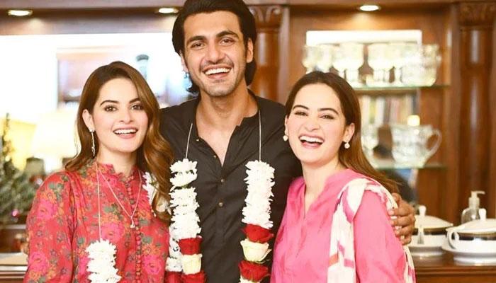 ایمن کی منال اور احسن محسن کو مگنی کی مبارکباد