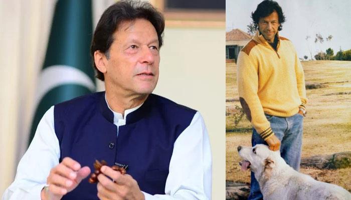 عمران خان کی بنی گالہ سے 'بھالو' کیساتھ تصویر وائرل