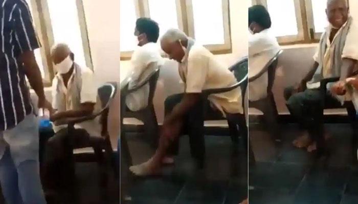بھارت : ایک شخص نے پورے جسم پر سینیٹائزر مل لیا
