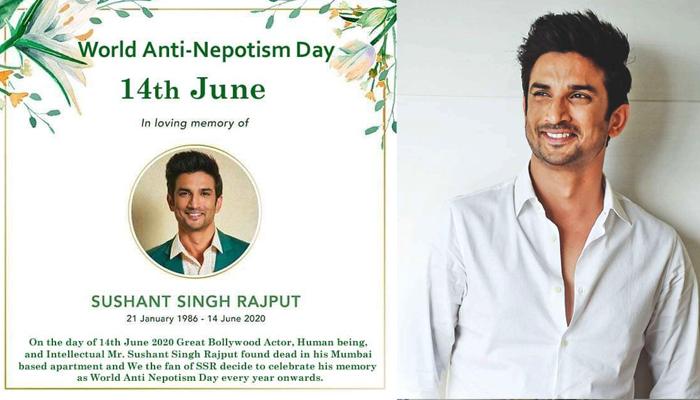سُشانت سنگھ راجپوت کے مداحوں نے 14 جون کو ' اینٹی نیپوٹزم ڈے' قرار دے دیا