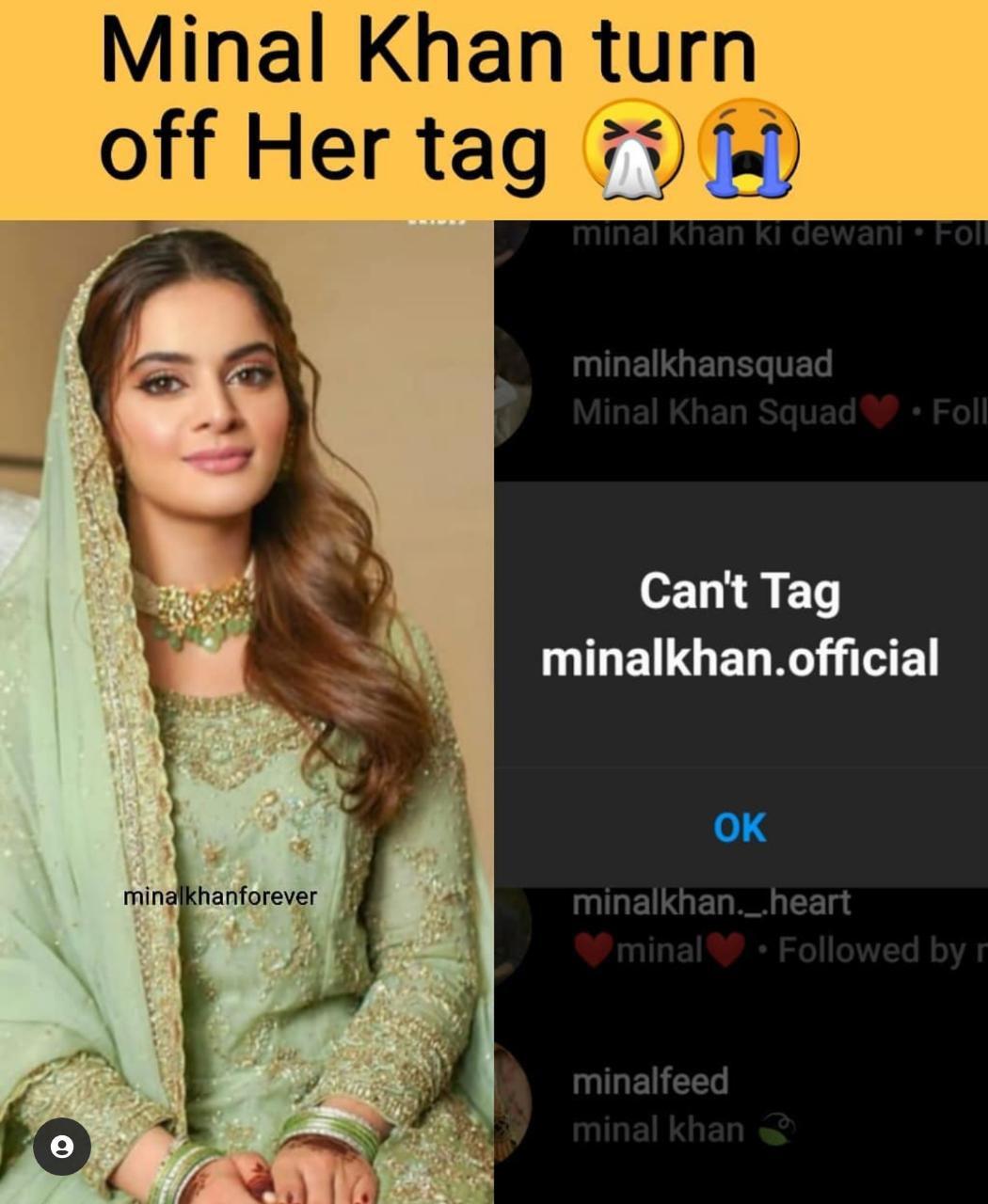 منال خان انسٹاگرام پر ٹیگ ہونے سے تنگ آگئیں