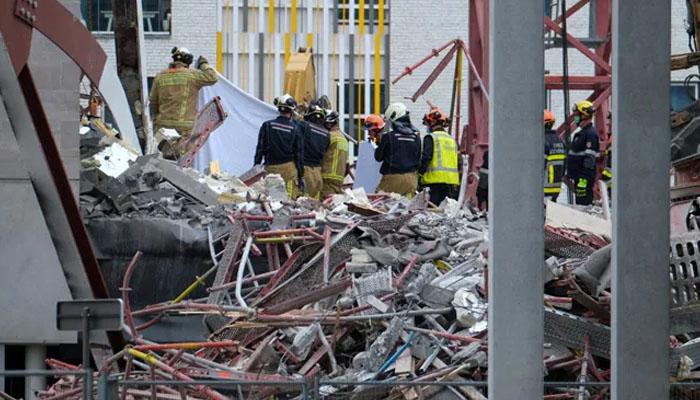 بیلجیئم : اسکول کی زیر تعمیر عمارت اچانک منہدم، 5 مزدور ہلاک