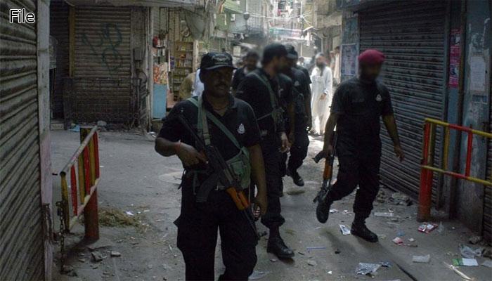 کراچی: بلدیہ کے لاسی گوٹھ میں سرچ آپریشن