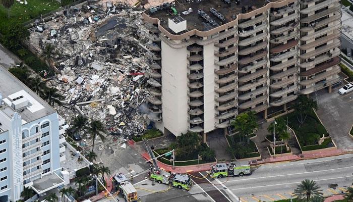 امریکا: 12 منزلہ عمارت گرنے سے 1 شخص ہلاک