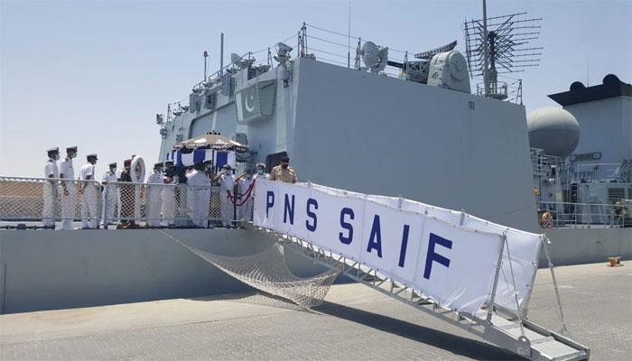 پی این ایس سیف کا دورہ کویت، مشترکہ مشق میں شمولیت