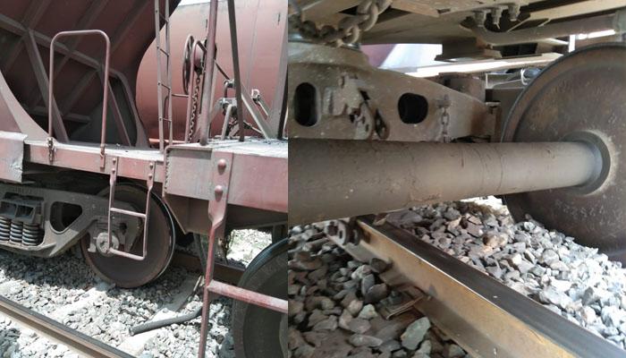 لاہور سے کراچی آنیوالی مال بردار ریل گاڑی کو جہانیاں کے قریب حادثہ