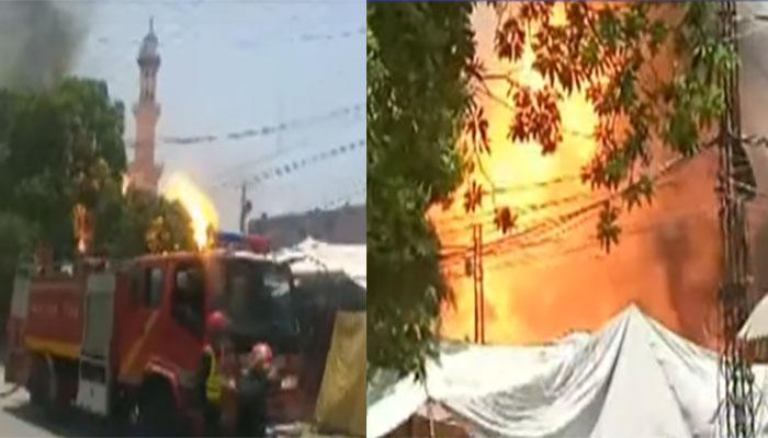 لاہور: 1 کے بعد 1 گیس سلنڈرز پھٹنے سے دھماکے