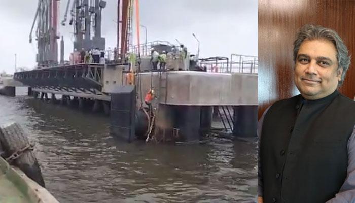 کراچی بندرگاہ پر آئل برتھ تھری نئے سرے سے تعمیر کی ہے، علی زیدی