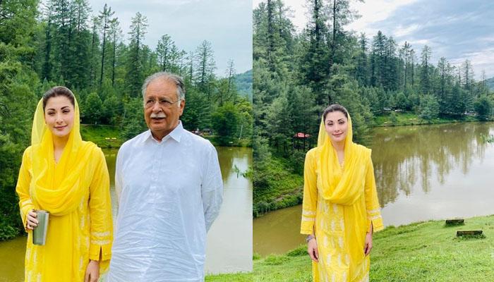 مریم نواز کو بھی کشمیر کی خوبصورتی نے اپنے سحر میں جکڑ لیا