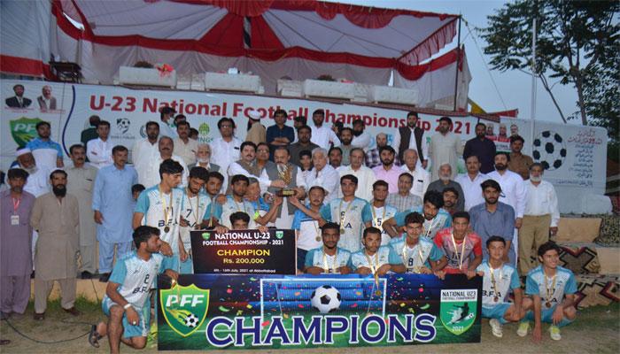بلوچستان نے قومی انڈر 23 فٹ بال چیمپیئن شپ جیت لی