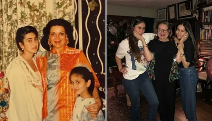 Kareena shared a memorable photo with her mother and sister