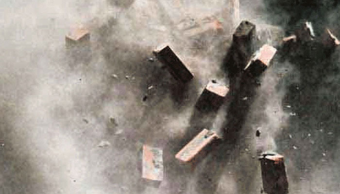 Karachi: A wall of a building under construction collapsed, one person was seriously injured