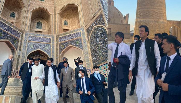 وزیرِ اعظم عمران خان کا بخارا کا دورہ، بزرگ کے مزار پر فاتحہ خوانی