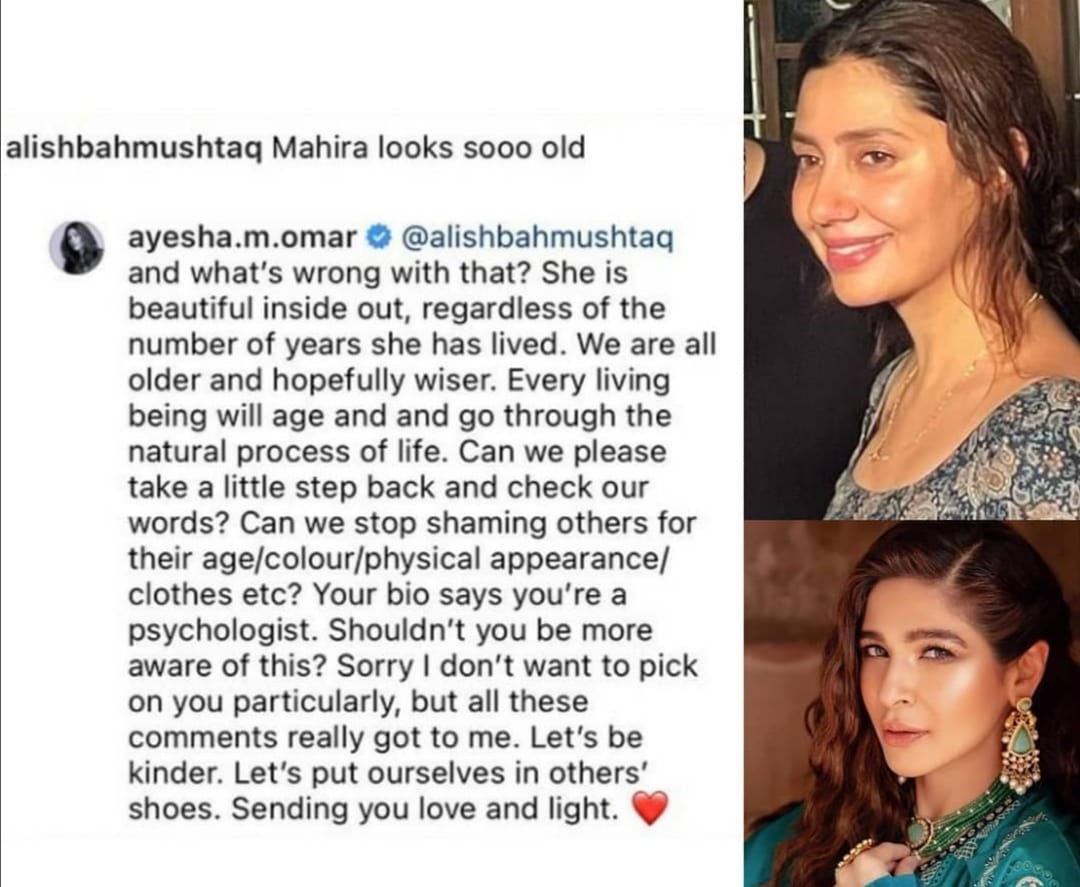 Ayesha Omar shouted at the user who called the expert 'old'