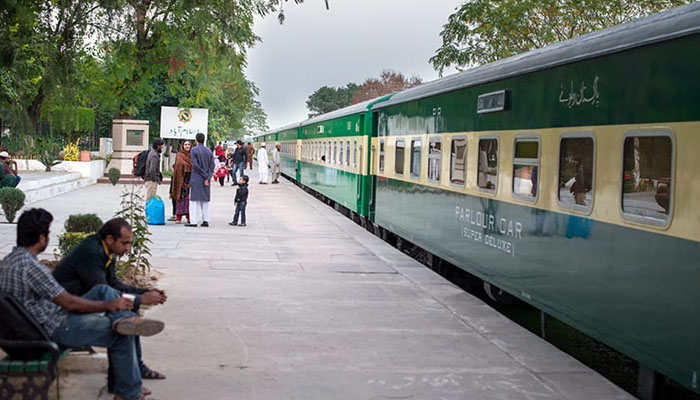The first Eid train from Karachi was delayed