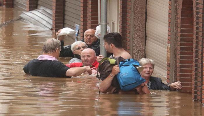 بیلجیئم میں سیلاب سے ہلاکتیں، کل یوم سوگ منانے کا اعلان
