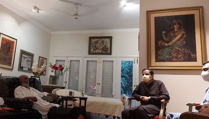 مرتضیٰ وہاب کی اکبر لیاقت علی خان کی عیادت، ہر ممکن تعاون کی یقین دہانی