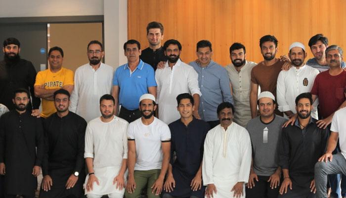 پاکستان کرکٹ ٹیم کی مانچسٹر میں نماز عید کی ادائیگی