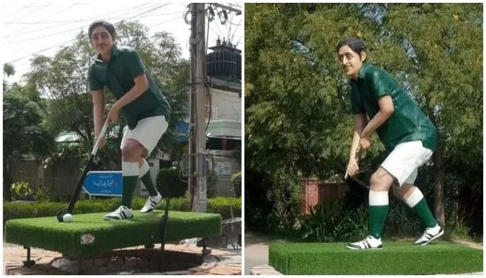 Hockey and hair theft accused arrested from Olympian Samiullah Khan's statue