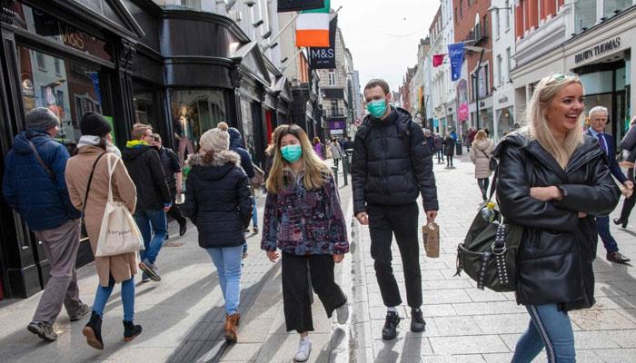آئرلینڈ میں 1 ہزار 378 افراد کورونا کا شکار