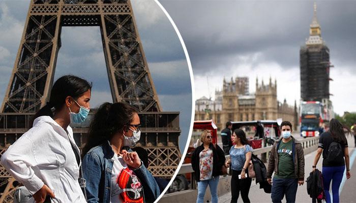 برطانیہ میں 44 ہزار، فرانس میں 21 ہزار کورونا کیسز رپورٹ