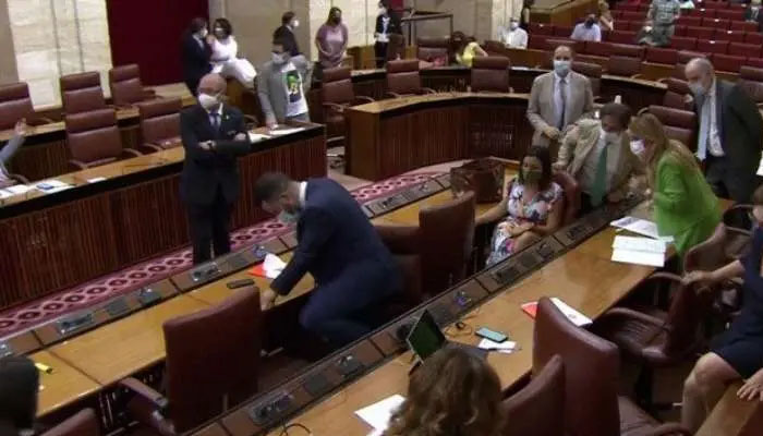 اسپین کی پارلیمنٹ میں چوہا گھس آیا ،ویڈیو وائرل
