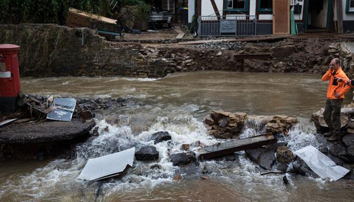 یورپ کے مختلف ملکوں میں بارشوں اور سیلاب سے تباہی