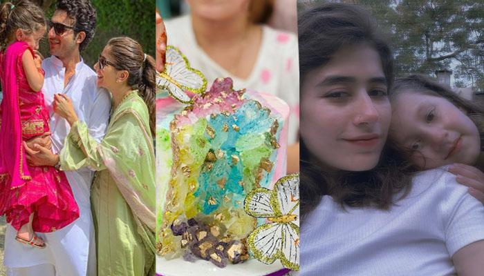 شہروز سبزواری کے بعد سائرہ یوسف نے بھی بیٹی کی سالگرہ منا لی
