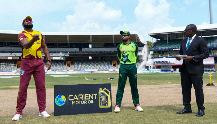 Second T20: West Indies decide to field after winning the toss against Pakistan