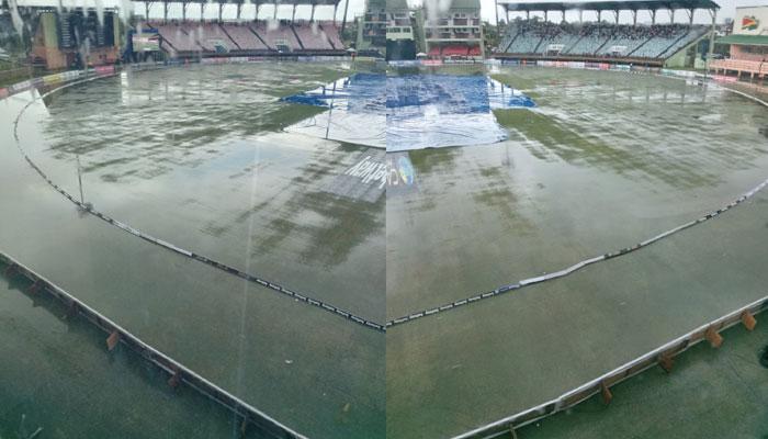 بارش نے تیسرا ٹی ٹوئنٹی بھی ختم کردیا، پاکستان کی 0-1 کی برتری برقرار