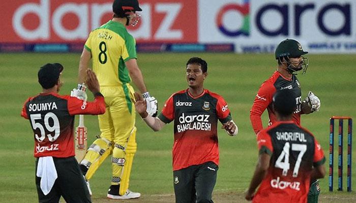 بنگلہ دیش نے ٹی ٹوئنٹی میں پہلی مرتبہ آسٹریلیا کو ہرادیا
