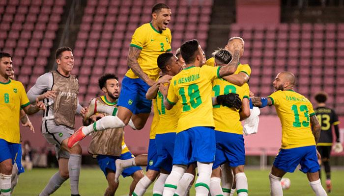 ٹوکیو اولمپکس: برازیل فٹبال ایونٹ کے فائنل میں پہنچ گیا