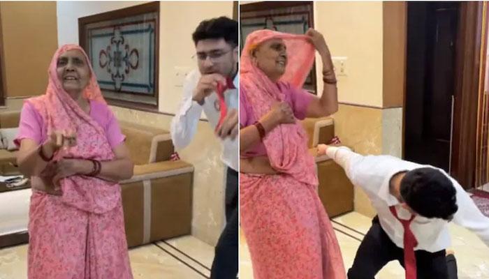 دادی، پوتے کے ڈانس کی ویڈیو انٹرنیٹ پر وائرل