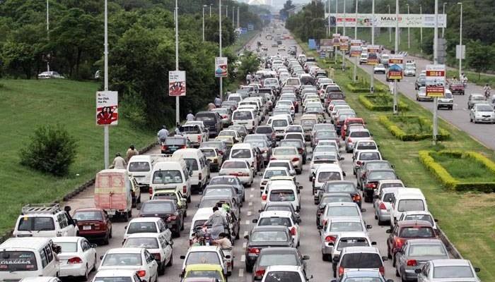 کشمیر ریلی: ملک بھر میں 1 منٹ کیلئے ٹریفک رُک گیا