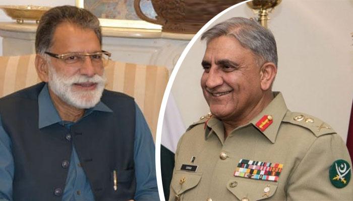 آرمی چیف سے وزیرِ اعظم آزاد کشمیر کی ملاقات