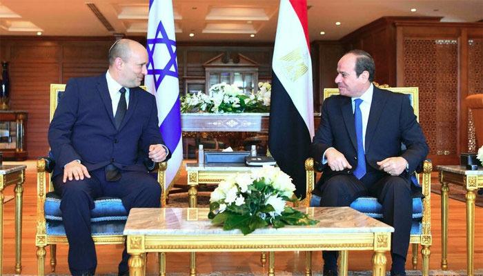 مصری صدر اور اسرائیلی وزیراعظم آج شرم الشیخ میں ملاقات کریں گے