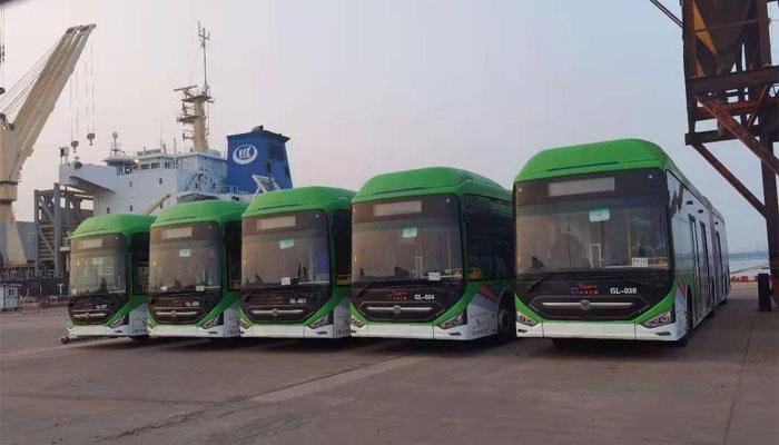 44 گرین لائن بسیں 18 ستمبر کو چین سے کراچی پہنچیں گی