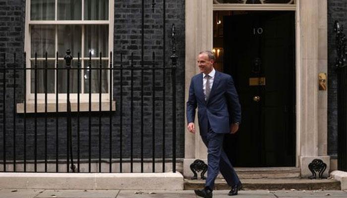 برطانوی کابینہ میں رد و بدل، ڈومینک راب کو وزیر انصاف بنادیا گیا