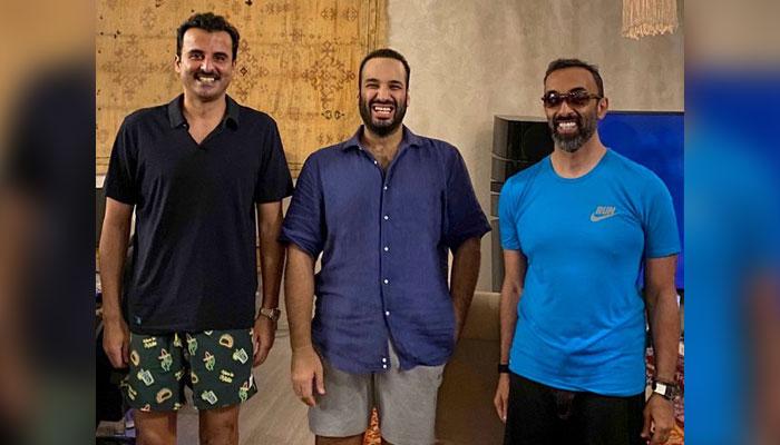 قطری امیر کے ساتھ سعودی و اماراتی رہنماؤں کی برادرانہ ملاقات
