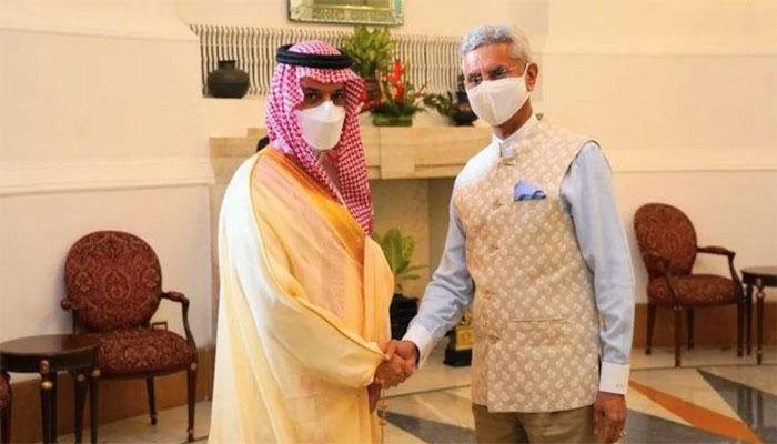 سعودی وزیر خارجہ کی نئی دلی میں بھارتی ہم منصب سے ملاقات