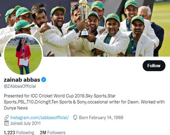زینب عباس ٹوئٹر پر چھاگئیں