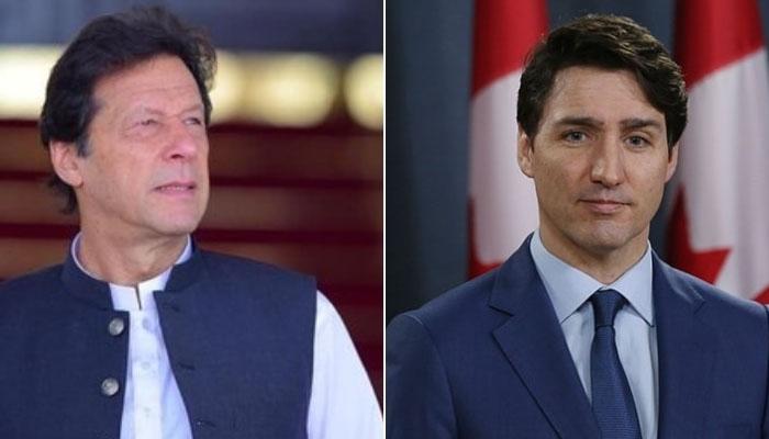 عمران خان کی جسٹن ٹروڈو کو تیسری بار وزیراعظم منتخب ہونے پرمبارکباد
