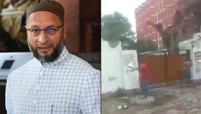 بھارتی رکن پارلیمنٹ اسد الدین اویسی کے گھر پر شرپسندوں کا حملہ