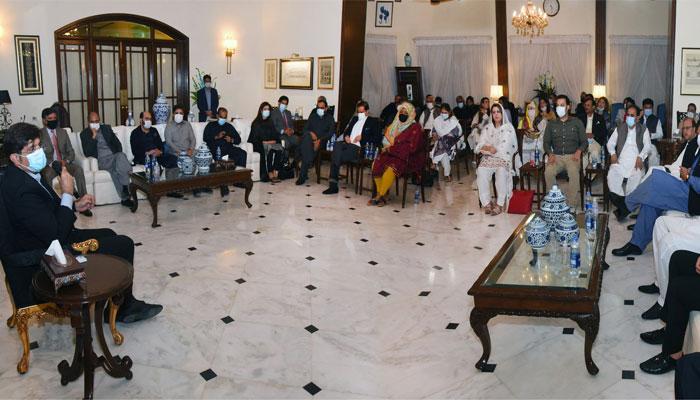 وزیراعلیٰ سندھ سے پنجاب اسمبلی کے 29 رکنی وفد کی ملاقات