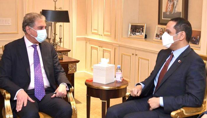 نیویارک : وزیر خارجہ شاہ محمود قریشی سے قطری نائب وزیراعظم کی ملاقات