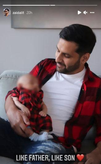 زید علی اور بیٹے کا ایک جیسا انداز وائرل