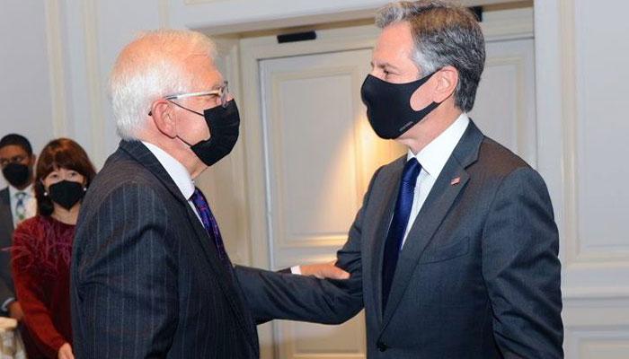 سربراہ یورپی خارجہ امور اور امریکی وزیر خارجہ کے درمیان نیویارک میں ملاقات