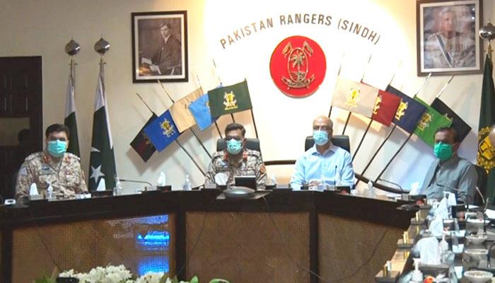 کراچی: ڈی جی رینجرز کی زیرِ صدارت اعلیٰ سطح کا اجلاس