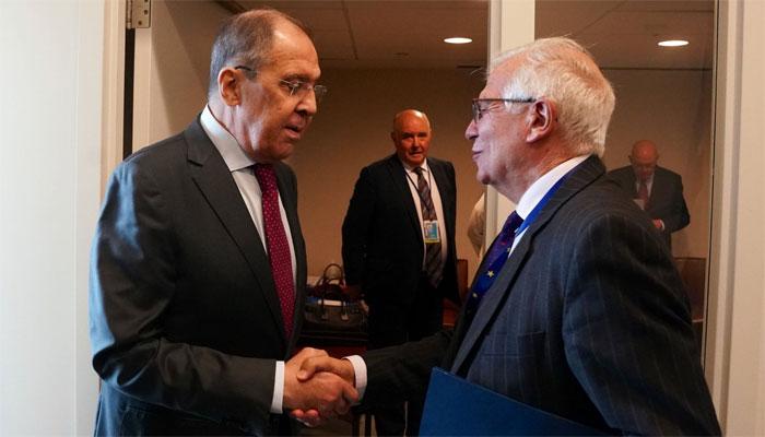 جوزپ بوریل اور روسی وزیر خارجہ کی ملاقات، یورپ کا ملکر کام کرنے پر زور
